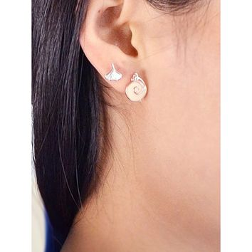 Lovely Cute Maple Leaf Stud Earrings