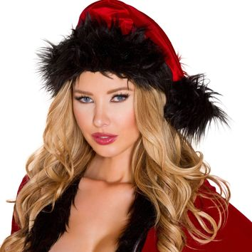 Roma Costume Fur Trimmed Hat