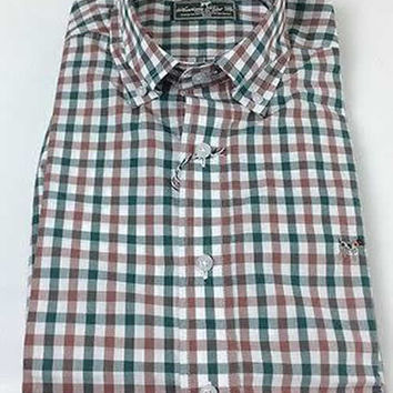 Southern Point Hadley Shirt in Forest Check