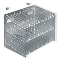 Azar Displays 222988 3-Tiered, 21 Compartment Cosmetic Tray