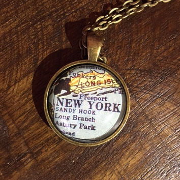 Map Necklace - New York