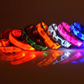 Camo Rechargeable USB LED Light Pet Collar