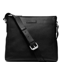 Michael Kors Bryant Leather Slim Messenger Bag