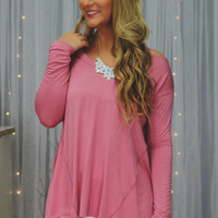 Chill Out Top - Mauve