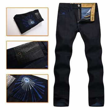 Billionaire Italian Couture Jean Men'S Launching Pure Cotton Casual Comfort Embroidered Designed