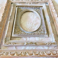 vintage frames distressed ornate frame gilded frame shabby chic baroque frame, nursery wall decor, French gallery wall frames set of 3