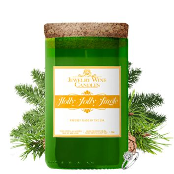 Holly Jolly Jingle | Jewelry Wine Candle®