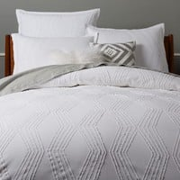 Roar + Rabbit Zigzag Texture Duvet Cover + Shams