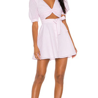 Lovers + Friends Smith Mini Dress in Baby Pink | REVOLVE