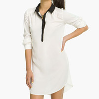 BP. Contrast Collar Shirtdress (Juniors) | Nordstrom