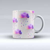 The Geometric Rain Clouds ink-Fuzed Ceramic Coffee Mug