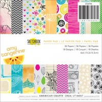 "American Crafts 6""x6"" Paper Pad - Amy Tangerine Sketchbook 35696 - 36 Sheets"