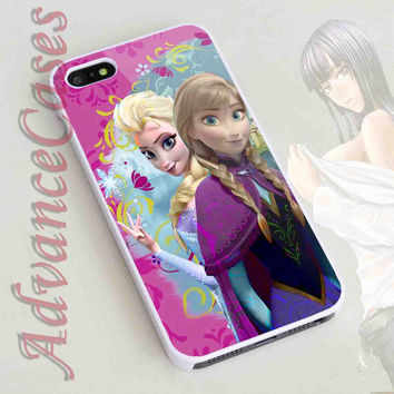 iPhone 4/4S Case, iPhone 5/5S, 5C Case and Samsung Galaxy S3 i9300, S4 i9500 Case - Design Princess Anna and Elsa Disney Frozen