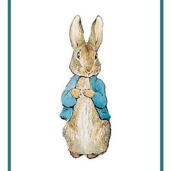 Peter Rabbit inspired by Beatrix Potter Counted Cross Stitch or Counted Needlepoint Pattern