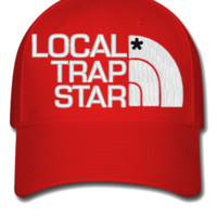 local trap embroidery hat - Flexfit Baseball Cap