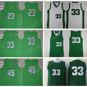 2017 College Throwback Michigan State Spartans Jerseys Basketball 33 Magic Johnson 45 Denzel Valentine 23 Draymond Green with player name
