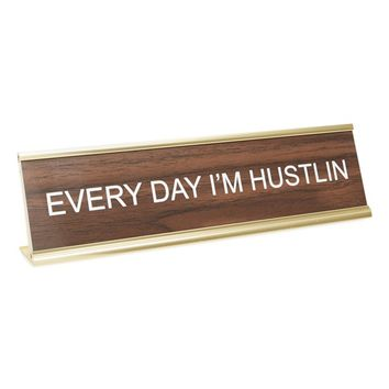 He Said, She Said 'Every Day I'm Hustlin' Desk Sign | Nordstrom