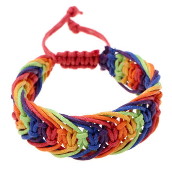 Rainbow Color Gay Pride Charming Friendship Bracelet