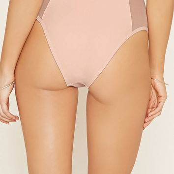Mesh High-Waist Bikini Bottoms | Forever 21 - 2000145523