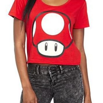 Nintendo Super Mario Bros. Mushroom Girls T-Shirt - 148495