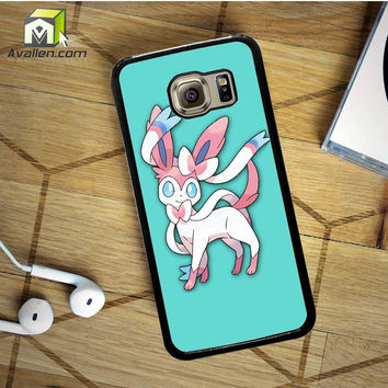 Pokemon X Y Sylveon  Eevee Evolution Samsung Galaxy S6 Case by Avallen