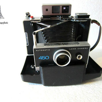 Camera Vintage Polaroid 450 Instant camera top of the line polaroid 450 camera vintage photo taking camera FREE SHIPPING