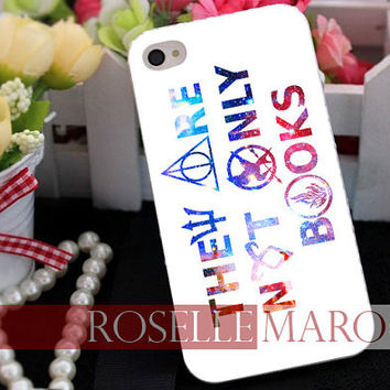 They Are Not Only Books - for case iPhone 4/4s/5/5c/5s-Samsung Galaxy S2 i9100/S3/S4/Note 3-iPod 2/4/5-Htc one-Htc One X-BB Z10