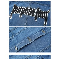 Justin Bieber purpose tour Denim jacket