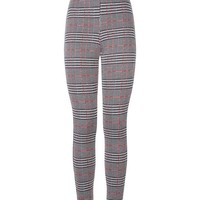 Red and Black Check Leggings | New Look