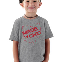 Made in Ohio Gray Toddler T-Shirt