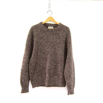 vintage speckled wool sweater. oversized sweater. chunky pullover.