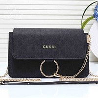 Gucci Women Shopping Leather Satchel Shoulder Bag Handbag Crossbody