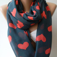 Love -Trend Scarf - Infinity Scarf Loop Scarf Circle Scarf - It made with good quality chiffon fabric - Super Loop