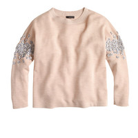 J.Crew Womens Sequin Floral Sweater