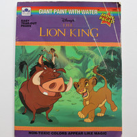 Vintage Walt Disney's Lion King Paint with Water Book 1994