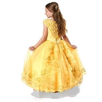 Original Disney Store Belle Limited Edition Dress Beauty Beast Girl Size:6