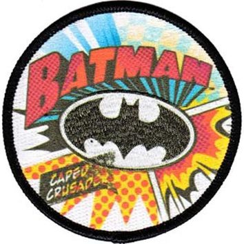 Batman Iron-On Patch Round Caped Crusader Logo