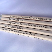 Percy Jackson Pencil Set by bouncingballcreation on Etsy