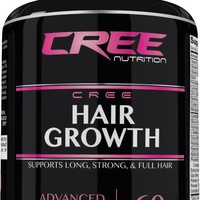 CREE Nutrition Hair Growth Supplement for Longer & Thicker Hair Health 60 Pills