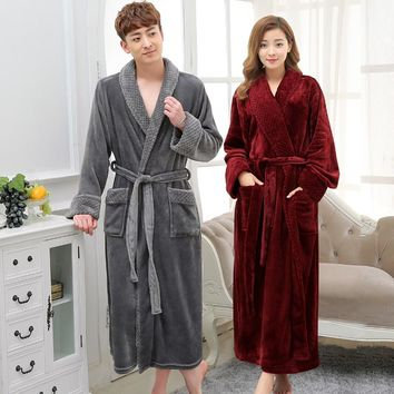 Coral Fleece Bathrobe Soft Flannel Robes