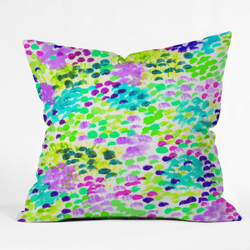 Rebecca Allen Overgrown Throw Pillow