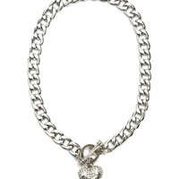 Pave Banner Heart Starter Necklace by Juicy Couture, O/S
