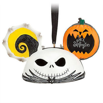disney parks jack skellington and zero ear hat ornament new with tag