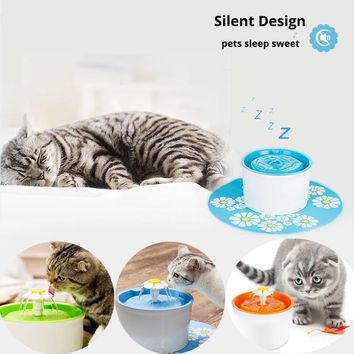 Automatic Cat Dog Electric Pet Drinking Fountain Pet Bowl Drinking Water Dispenser Drink Filter