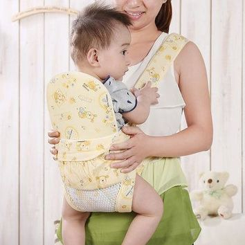 Infant double-shoulder suspenders hold with multifunctional four seasons general summer 100% breathable cotton bags