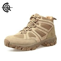 CQB Outdoor Hiking Shoes Walking Men Climbing Shoes Sport Boots Hunting Mountain Shoes Non-slip Breathable Hunting Boots SL005B3