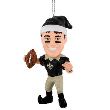 New Orleans Saints Drew Brees Elf Ornament