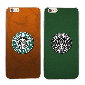 Day-First™ Starbucks Fashion Print Sakura wind iPhone Phone Cover Case For iphone 6 6plus 7 7plus