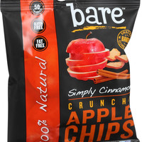 Bare Fruit All Natural Crunchy Apple Chips - Cinnamon - 15 G - Case Of 12