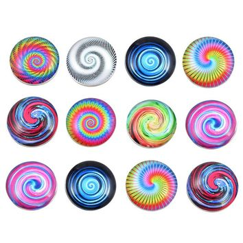 MJARTORIA 12PCs Random Mixed Glass Buttons